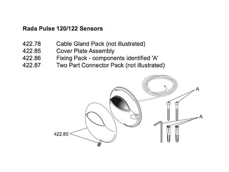 Rada Pulse 122 Urinal Operating System (1495.064) shower spares breakdown diagram