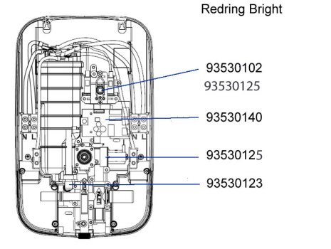 Redring Bright electric shower 8.5kw (53533301) spares breakdown diagram