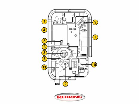 Redring Active 350S (Active 350S) spares breakdown diagram