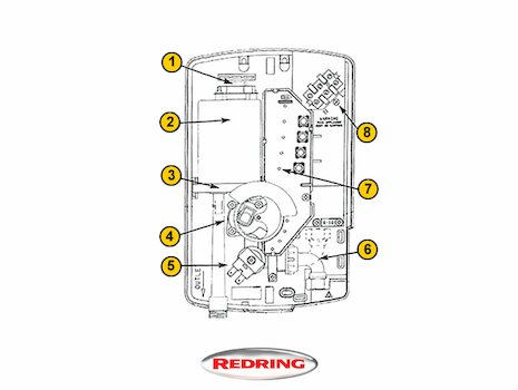 Redring Expressions 550 (Expressions 550) shower spares breakdown diagram