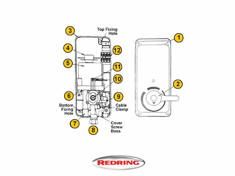 Redring Florida 8 (Florida 8) shower spares breakdown diagram