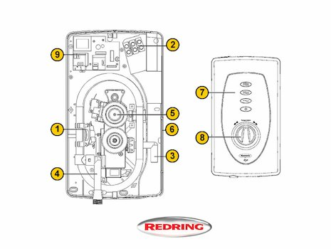 Redring Slimline 650 (Slimline 650) shower spares breakdown diagram