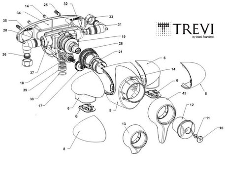Trevi CTV Exposed A3101AA (CTV A3101AA) spares breakdown diagram