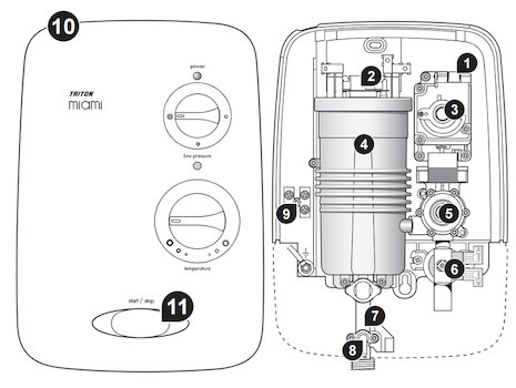 Triton Miami 2 spares breakdown diagram