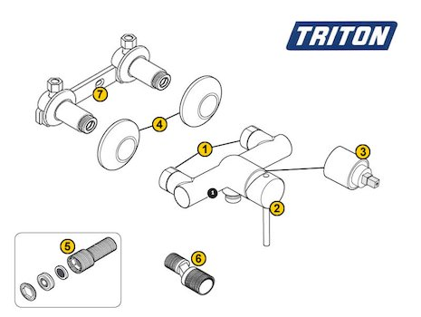 Triton Emino Exposed (Emino) spares breakdown diagram