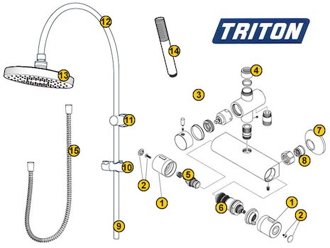 Triton Islington (Islington) spares breakdown diagram