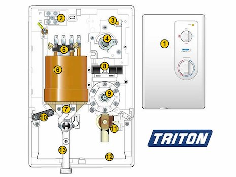 triton 19mm shower head holder white triton p84200080. Black Bedroom Furniture Sets. Home Design Ideas