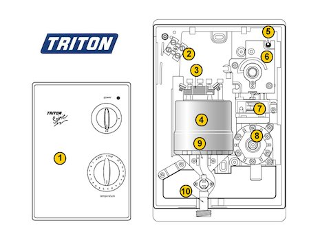 Triton Spirit (Spirit) spares breakdown diagram