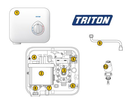 Triton T30i - 3.0kW (T30i) spares breakdown diagram