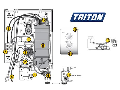 Triton T80z (T80z) spares breakdown diagram
